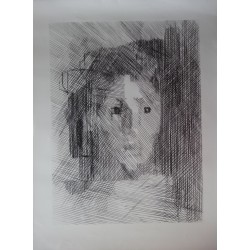 Jacques VILLON : Lithograph - Young girl