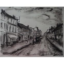 Maurice de Vlaminck - Original etching - Popular street