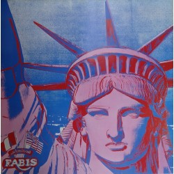 Andy WARHOL - Original vintage poster : 10 Statues of Liberty