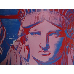 Andy WARHOL - Affiche originale : 10 Statues of Liberty