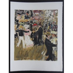 Kees VAN DONGEN : Lithograph - Dancing in the outdoors