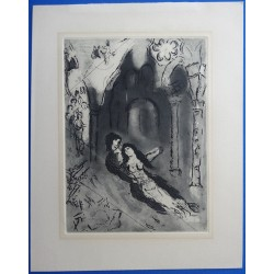 Marc CHAGALL - Etching : The wedding