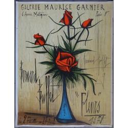 Bernard BUFFET - Roses in a blue vase