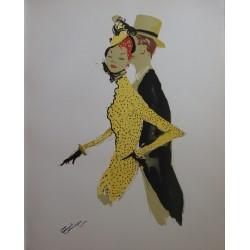 Jean-Gabriel DOMERGUE - Elegant couple