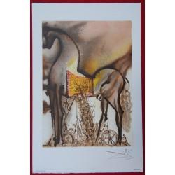 Salvador DALI - Lithograph (Dalinians Horses) - Trojan horse