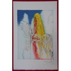 Salvador DALI - Lithograph (Dalinians Horses) - Lady Godiva
