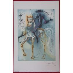 Salvador DALI - Lithograph (Dalinians Horses) - Le Picador