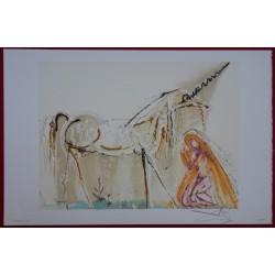 Salvador DALI - Lithograph (Dalinians Horses) - The Unicorn
