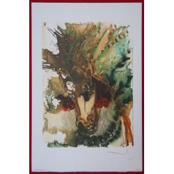 Salvador DALI - Lithograph (Dalinians Horses) - Bucephale