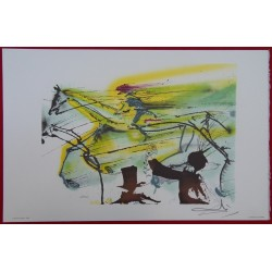 Salvador DALI - Lithograph (Dalinians Horses) - Racehorse