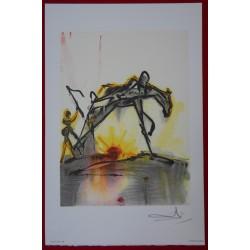 Salvador DALI - Lithograph (Dalinians Horses) - Working horse