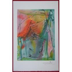 Salvador DALI - Lithograph (Dalinians Horses) - The horse of Death