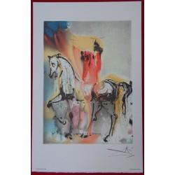 Salvador DALI - Lithograph (Dalinians Horses) - Christian horseman