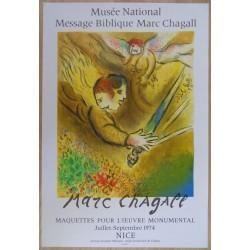 Marc CHAGALL - Lithograph Mourlot - Le Glaive Celeste