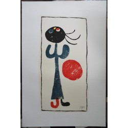 Joan MIRO - Original lithograph - Girl with red ball