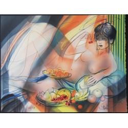Jean-Baptiste VALADIE - Lithograph - Gluttony