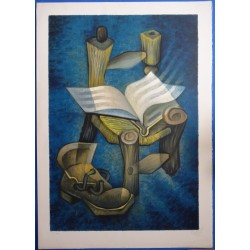 Louis TOFFOLI - Lithograph - Tribute to Van Gogh