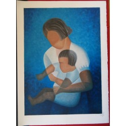 Louis TOFFOLI - Lithograph - The toddler in the arms