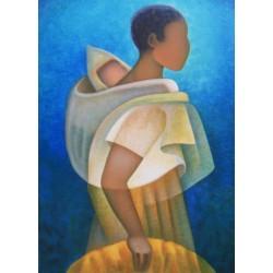 Louis TOFFOLI - Lithograph - Black Motherhood