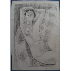 Henri MATISSE - Original signed lithograph - Seated nude