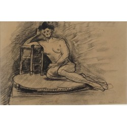 Henri MATISSE - Original drawing - Seated nude
