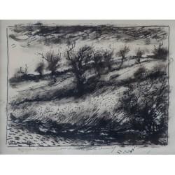 Maurice de VLAMINCK - Ink drawing - The hillside
