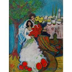 RAYA SORKINE - Oil on canvas - The wedding
