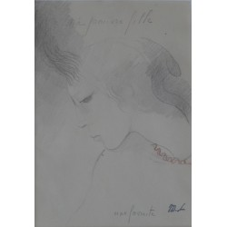 Marie LAURENCIN - Signed drawing : A Favorite