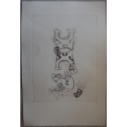 ARMAN - Original etching : Stacking of bridges