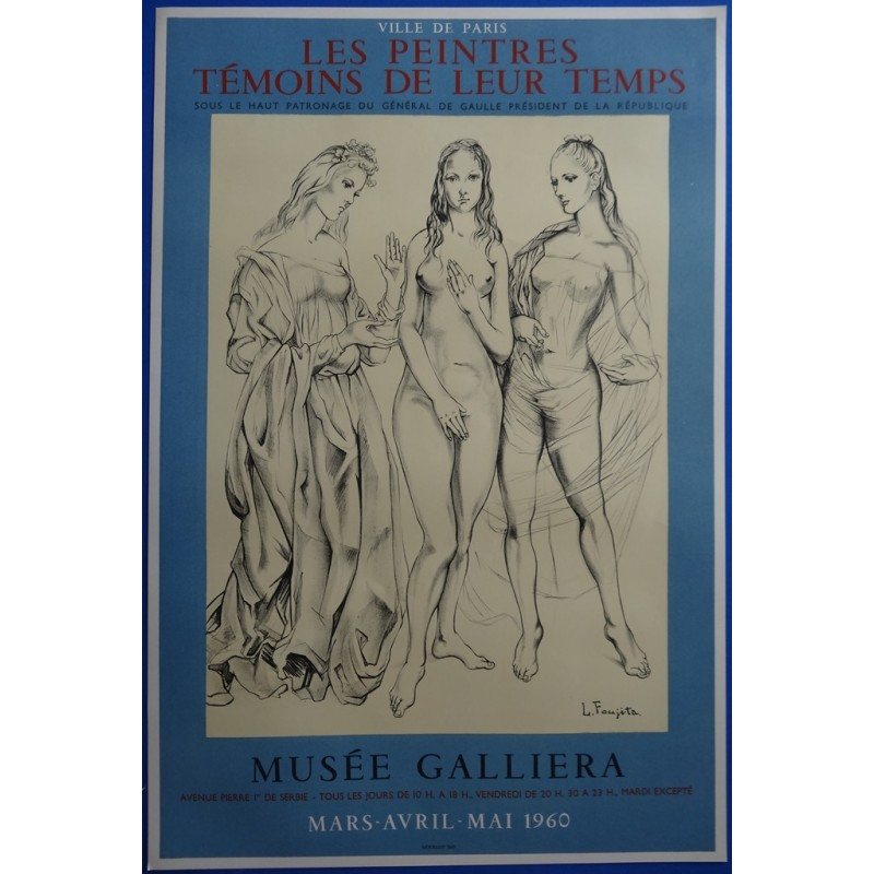 Tsuguharu (Léonard) FOUJITA - Lithograph : The Three Graces