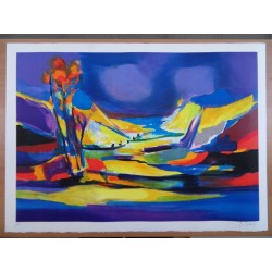 Marcel MOULY - Lithograph : The Valley