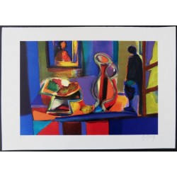 Marcel MOULY - Lithograph : The Pitcher