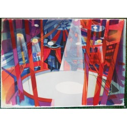 Camille HILAIRE - Lithograph  : The Circus