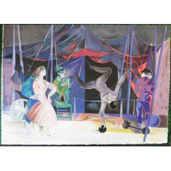 Camille HILAIRE - Lithograph  : The Juggler