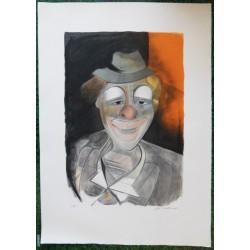 Camille HILAIRE - Lithograph : Sad clown