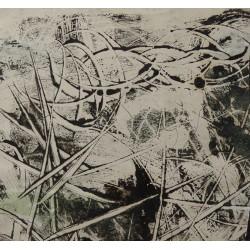 Simon HANTAI - Original drawing : Surrealist landscape