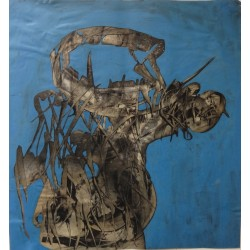 Simon HANTAI - Original drawing : Biomorphe