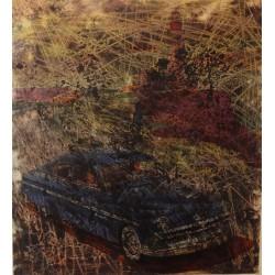 Simon HANTAI - Original drawing : Scraping on Buick