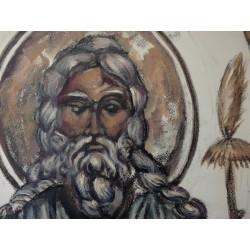 FOUJITA Léonard (Tsuguharu) - Gouache : Dieu le Père