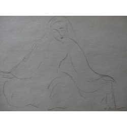 Henryk BERLEWI - Signed drawing : Seated woman