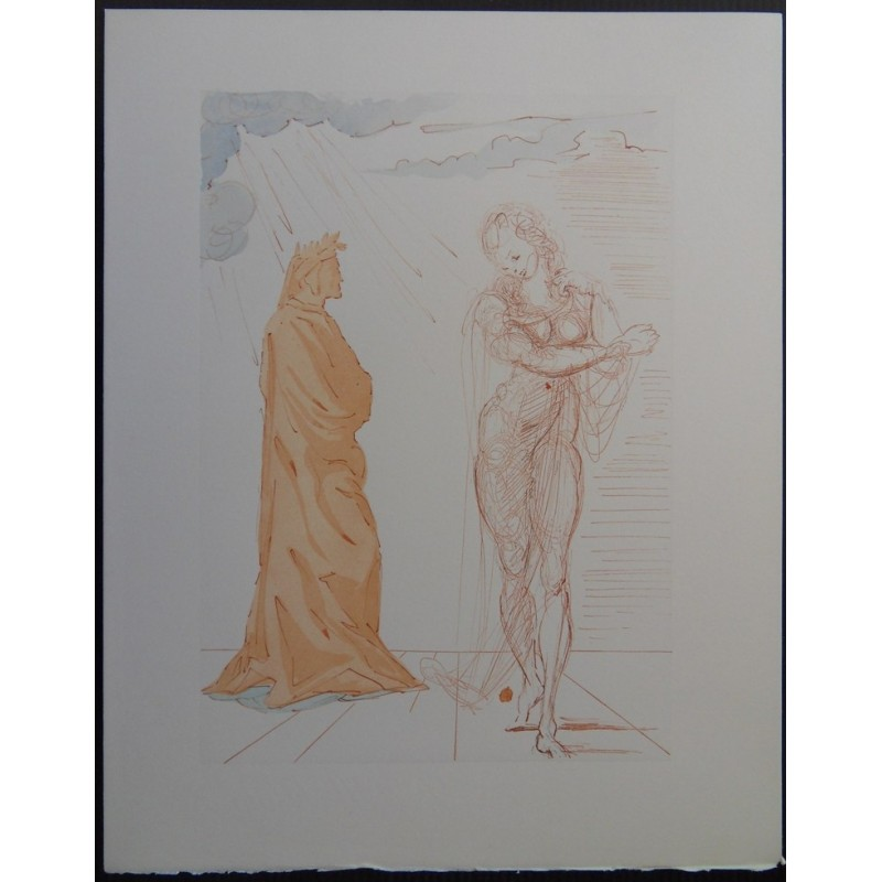 Salvador DALI - Divine Comedy : Virgil consoles Dante