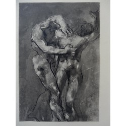 Auguste RODIN - Etching : The Fight