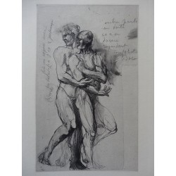Auguste RODIN - Etching : Study for Dante