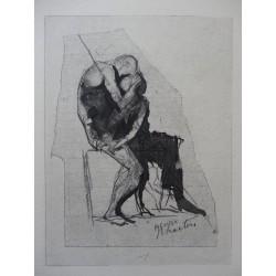 Auguste RODIN - Gavure : Icarus & Phaeton