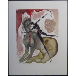 Salvador Dali - Divine Comedy : The Minotaur (Hell 12)