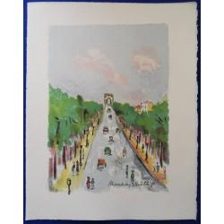 Maurice UTRILLO - Lithograph : Les Champs Elysées