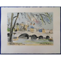 Maurice UTRILLO - Lithograph : Le Pont Neuf