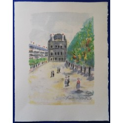 Maurice UTRILLO - Lithograph : Louvre Museum