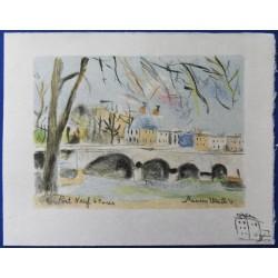 Maurice UTRILLO - Lithographs : Paris Capitale (10 lithos)