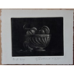 Gilbert POILLERAT - Signed etching : Tribute to Avati